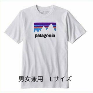 patagonia - パタゴニアTシャツ 白 L ショップステッカー アウトドア キャンプ
