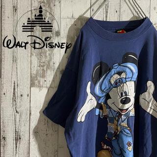 ディズニー(Disney)の【激レア】古着 ディズニー ミッキー Tシャツ ビッグロゴ ビンテージ(Tシャツ/カットソー(半袖/袖なし))