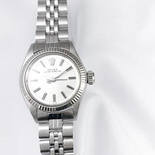 ROLEX - 【保証書付】ロレックス オイスター シルバー レディース 腕時計