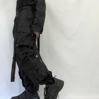 リックオウエンス(Rick Owens)の【UK Label テクノパンツ デッドストック】ブラック 軍 ミリタリー(ワークパンツ/カーゴパンツ)