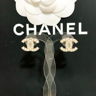 CHANEL - 正規品 シャネル ピアス ゴールド ココマーク パール 真珠 ロゴ 金 ストーン
