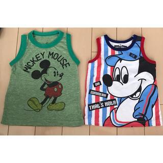 ディズニー(Disney)のミッキー  タンクトップ 2枚 ディズニー 95cm(Tシャツ/カットソー)