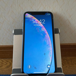 Apple - iPhone XR 64GB ブルー SoftBank 画面割れ