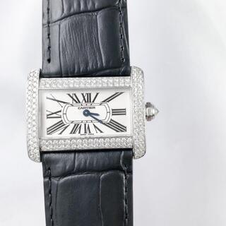Cartier - 【仕上済】カルティエ ミニ TANK ディヴァン ダイヤ レディース 腕時計