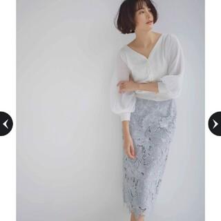 Apuweiser-riche - 【新品未使用タグ付き】アプワイザーリッシェ⭐今期新作・配色大花レーススカート