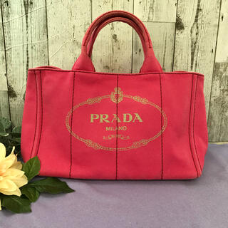 プラダ(PRADA)の【1046S】PRADA プラダ カナパ ハンドバッグ ピンク(ハンドバッグ)