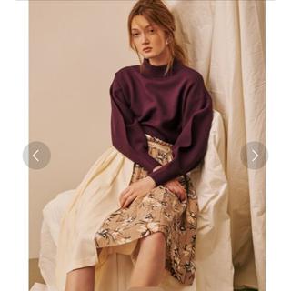 ラグナムーン(LagunaMoon)のラグナムーン 花柄プリーツスカート(ひざ丈スカート)
