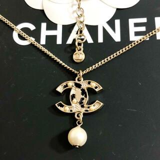 シャネル(CHANEL)の正規品 シャネル ネックレス ココマーク パール 真珠 地球儀 地図 ゴールド(ネックレス)