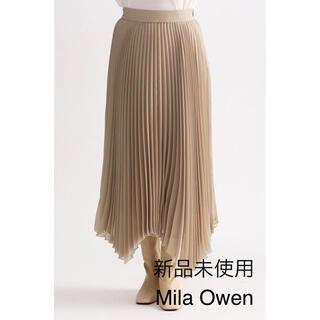 Mila Owen - 未使用♦︎Mila Owen アシンメトリープリーツスカート