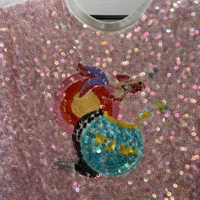 miumiu(ミュウミュウ)のmiumiu♡金魚スパンコールTシャツ🌟🌟🌟 レディースのトップス(Tシャツ(半袖/袖なし))の商品写真