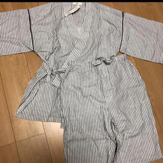 粋人 ikibito  メンズ 二重ガーゼ 甚平 M(浴衣)
