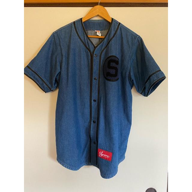 Supreme(シュプリーム)の13aw supreme denim baseball shirt ベースボール レディースのジャケット/アウター(Gジャン/デニムジャケット)の商品写真