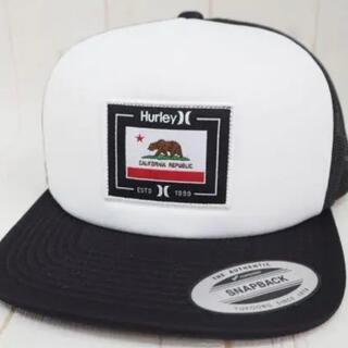 Hurley - Hurley ハーレー キャップ カリフォルニアベアー 白黒