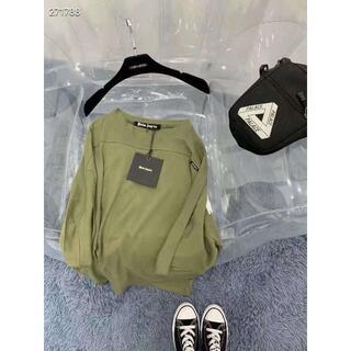 パーム(PALM)のpalm angels限定モデル、グリーンのショートtゆったりバージョン (Tシャツ/カットソー(半袖/袖なし))