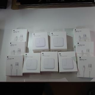 アップル(Apple)の12W Apple Power Adapter 5個セット(純正ケーブル付き)(バッテリー/充電器)