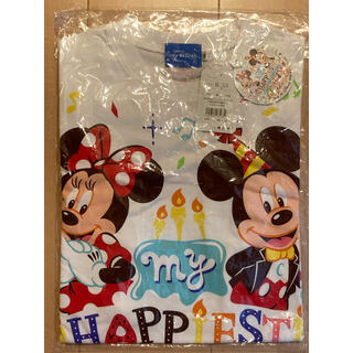 ディズニー(Disney)の✨新品✨ ディズニー公式 半袖Tシャツ バースデー Sサイズ ミッキー&ミニー(Tシャツ(半袖/袖なし))