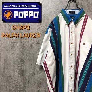 Ralph Lauren - チャップスラルフローレン☆半袖マルチストライプシャツ 90s