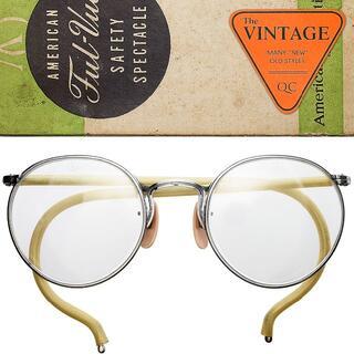 箱付デッド アメリカンオプティカル 30'sFUL-VUEメタル丸眼鏡ボストン(サングラス/メガネ)