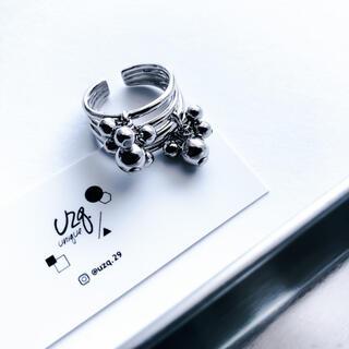 ZARA - 【127】つぶつぶメタルボールのリング