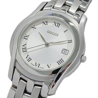 グッチ(Gucci)のグッチ GUCCI 時計 5500M クオーツ デイト メンズ(腕時計)