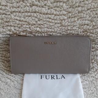 Furla - 美品 フルラ FURLA グレー 財布 L字ファスナー