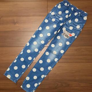ジェニィ(JENNI)のJENNI ドット&スター デニムパンツ 150cm(パンツ/スパッツ)