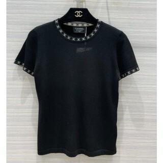 CHANEL - 21SS CHANEL♡CCロゴ カシミア混 半袖 ニット