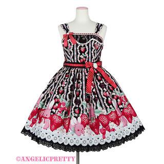 Angelic Pretty - Little Bunny Strawberryジャンパースカート