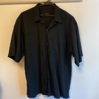 COMOLI - コモリ 20SS ベタシャンオープンカラーシャツ サイズ2 ブラック