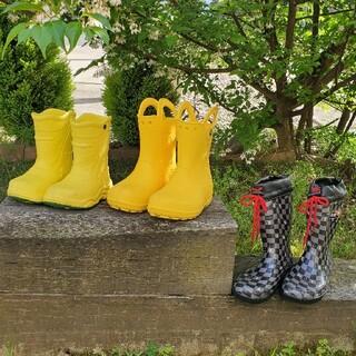クロックス(crocs)のキッズ レインブーツ 3足(15cm~20cm)(長靴/レインシューズ)