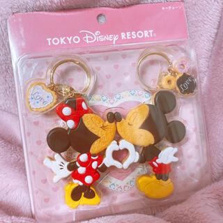 ディズニー(Disney)の東京ディズニーランド ミッキーマウス&ミニーマウス キーチェーン(キャラクターグッズ)