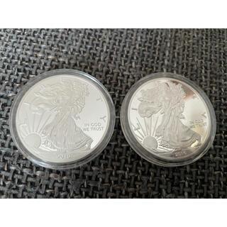 銀貨 1オンス 1oz ウォーキングリバティ 2枚 純銀(金属工芸)