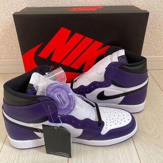NIKE AIR JORDAN 1 COURT PURPLE 白紫 29cm(スニーカー)