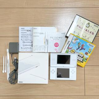 ニンテンドーDS(ニンテンドーDS)の任天堂DS Lite本体 ホワイト マリオ 脳トレ ソフト付き(携帯用ゲーム機本体)
