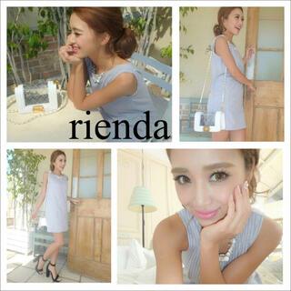 rienda - rienda ストライプ ノースリーブ ワンピース*リゼクシー エイミー