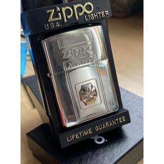 ジッポー(ZIPPO)のZIPPO リミテッドエディションsilverプレートダイヤ入り(タバコグッズ)
