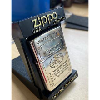 ジッポー(ZIPPO)のZIPPOリミテッドエディションsilver plateシリアルNo.100(タバコグッズ)