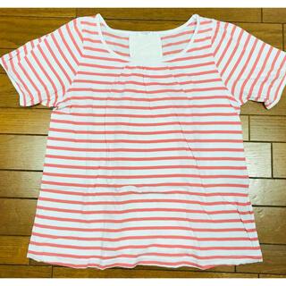 ハニーズ(HONEYS)のハニーズ 赤 ボーダー トップス Tシャツ 半袖(Tシャツ(半袖/袖なし))
