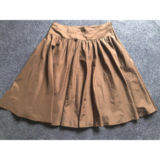 プーラフリーム(pour la frime)のブラウンフレアスカート(ひざ丈スカート)