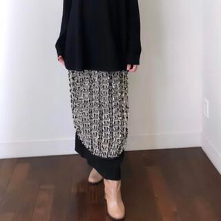 GREED - GREED International/ストライプカットジャガードスカート