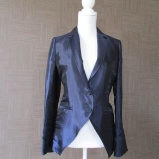 アルティザン(ARTISAN)のアルチザン ARTISAN 濃紺 麻混ジャケット リネン 9 日本製 美品(テーラードジャケット)