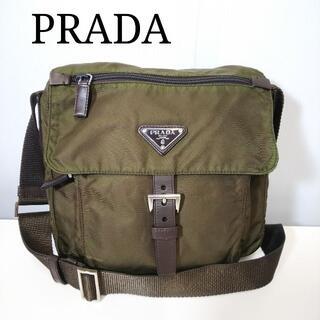 PRADA - PRADA プラダ ショルダー カーキ タマムシ色 QJ031