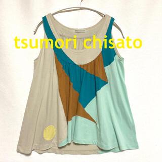 TSUMORI CHISATO - ツモリ チサト tsumori chisato パッチワーク ギャザー トップス