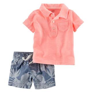 カーターズ(carter's)のカーターズ 半袖ポロシャツ&花柄半ズボンセット(シャツ/カットソー)