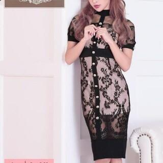 dazzy store - Tika レースデザインレトロタイトドレス