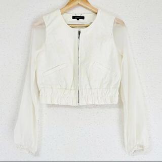 ZARA - チュールが可愛い(๑˃̵ᴗ˂̵)✨‼️❤️rienda❤️高級感あるジャケット