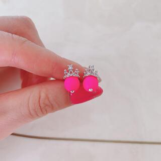 N°21 - 蛍光ピンク ネオンカラー ピアス