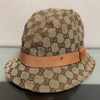 グッチ(Gucci)のグッチ バケット ハット 帽子 キャップ GG キャンバス Lサイズ(ハット)