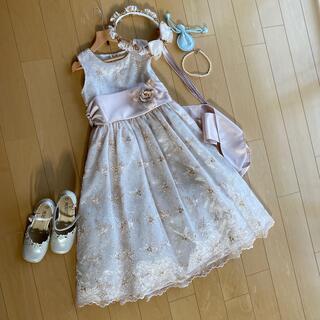 キャサリンコテージ(Catherine Cottage)のsweet kids USA キッズドレス&フラワーティアラ&チョーカー(ドレス/フォーマル)