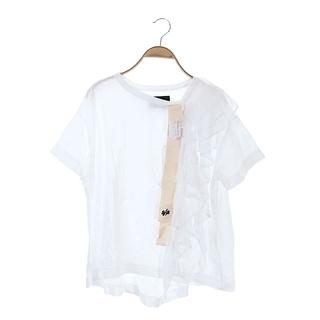 BEAMS BOY - ビームスボーイ × エイス コラボ カットソー 半袖 リボン 白 ベージュ